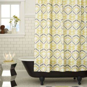 West Elm Tali Ikat Shower Curtain